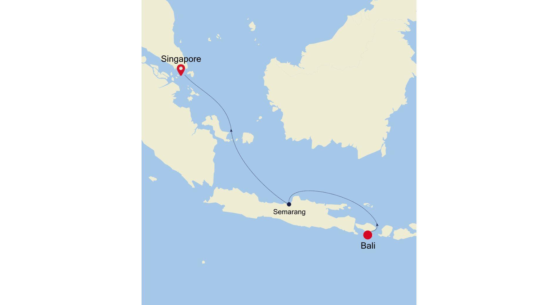 6007C - Bali nach Singapore