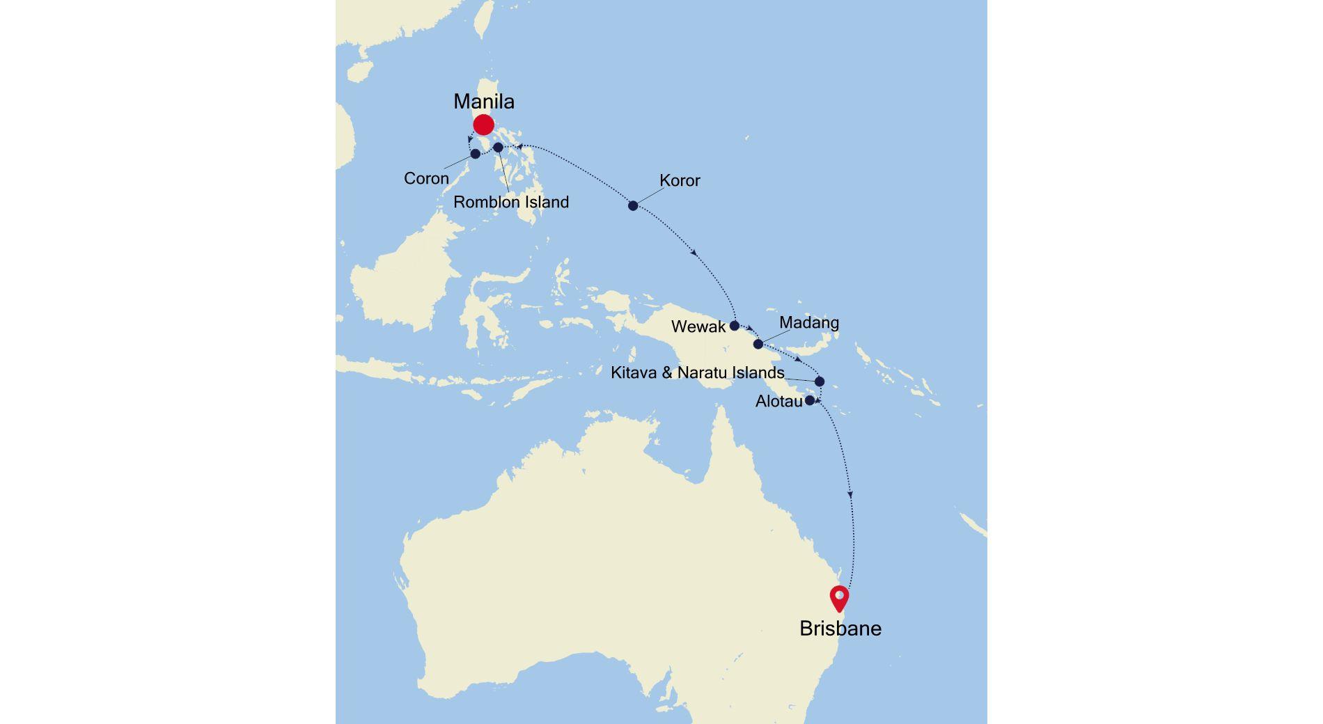 SM201013S16 - Manila to Brisbane
