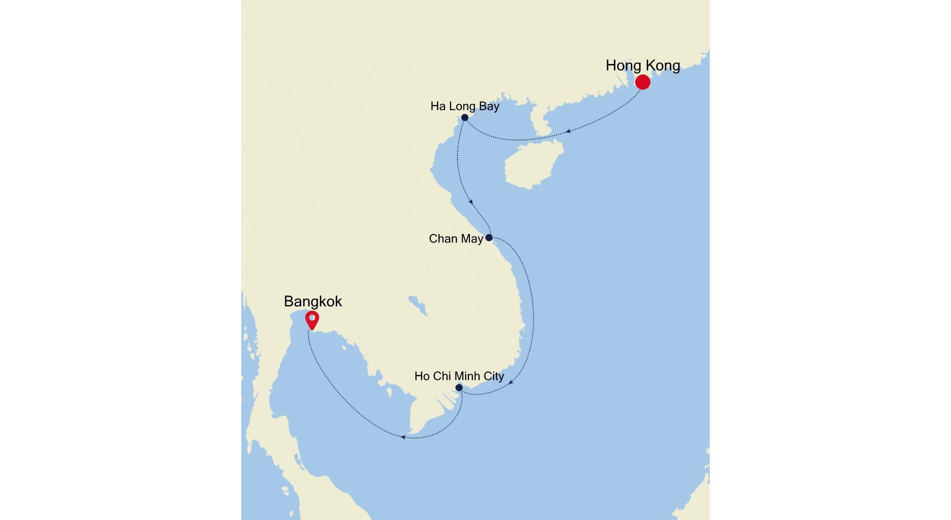 SM211023S10 - Hong Kong to Bangkok