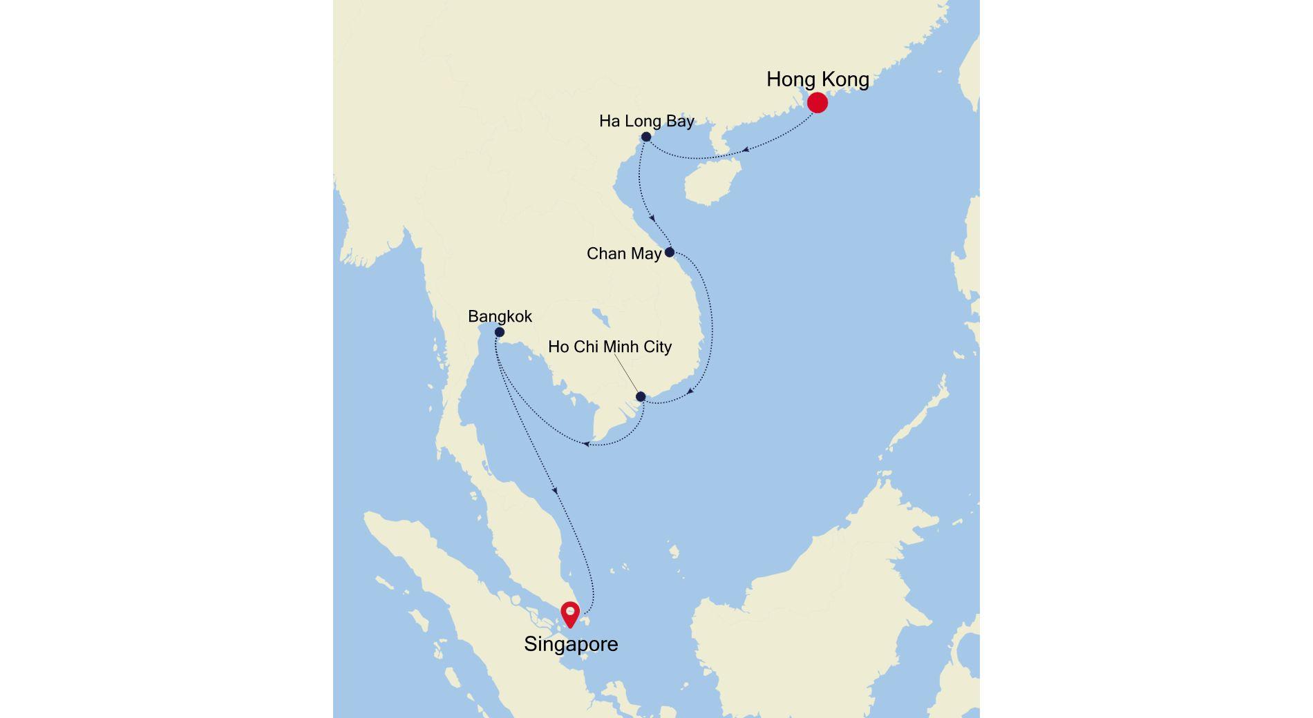 SM211023013 - Hong Kong nach Singapore