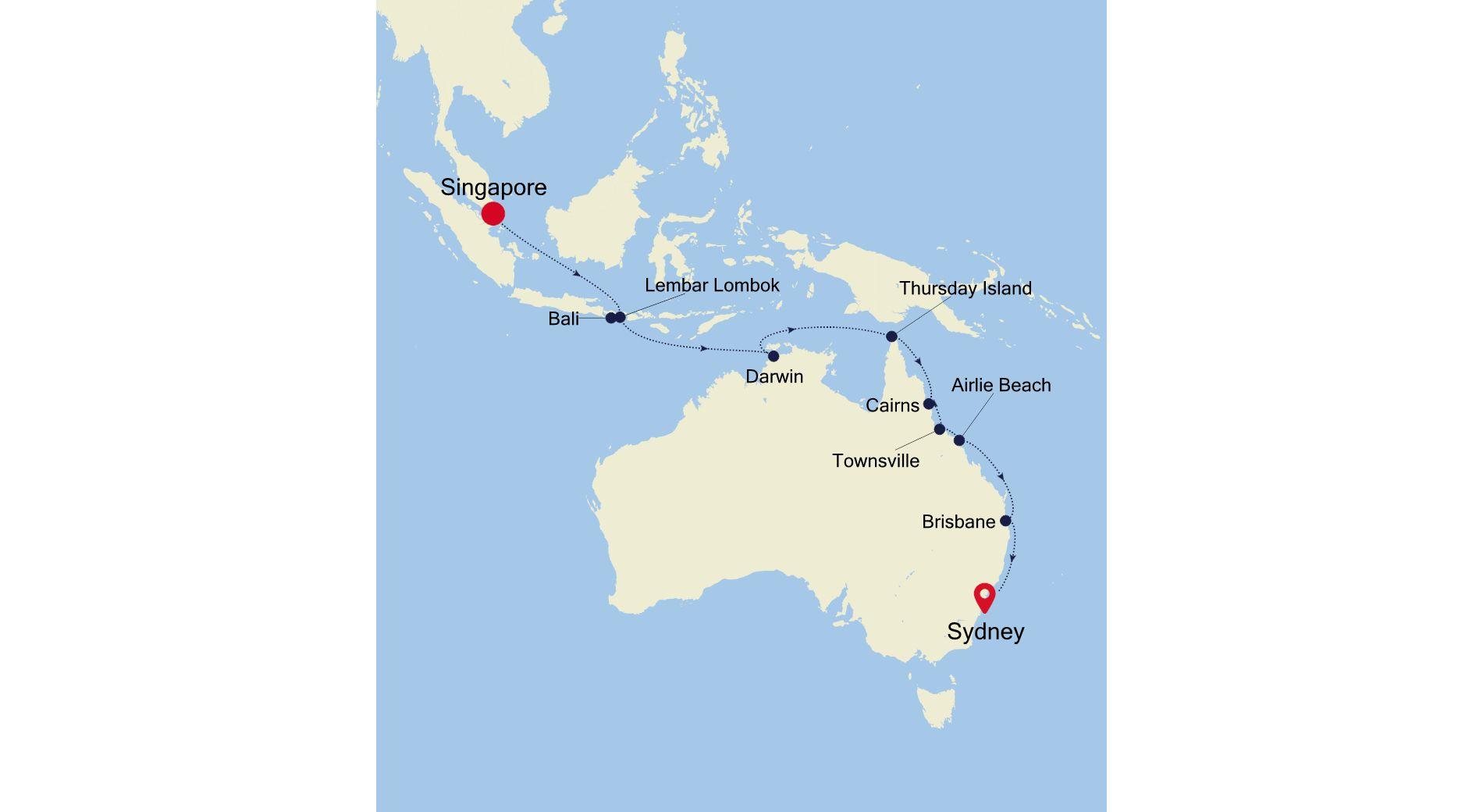 SM211129018 - Singapore nach Sydney