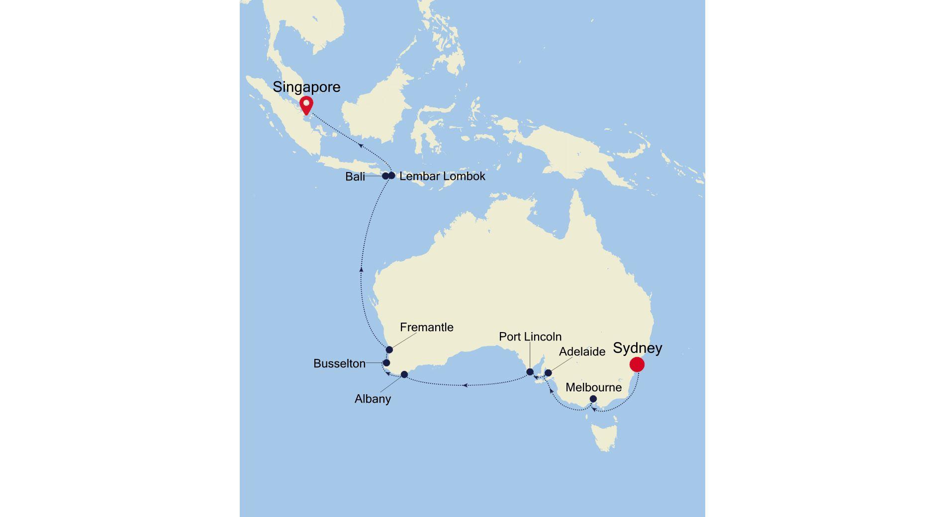 SM220219018 - Sydney a Singapore