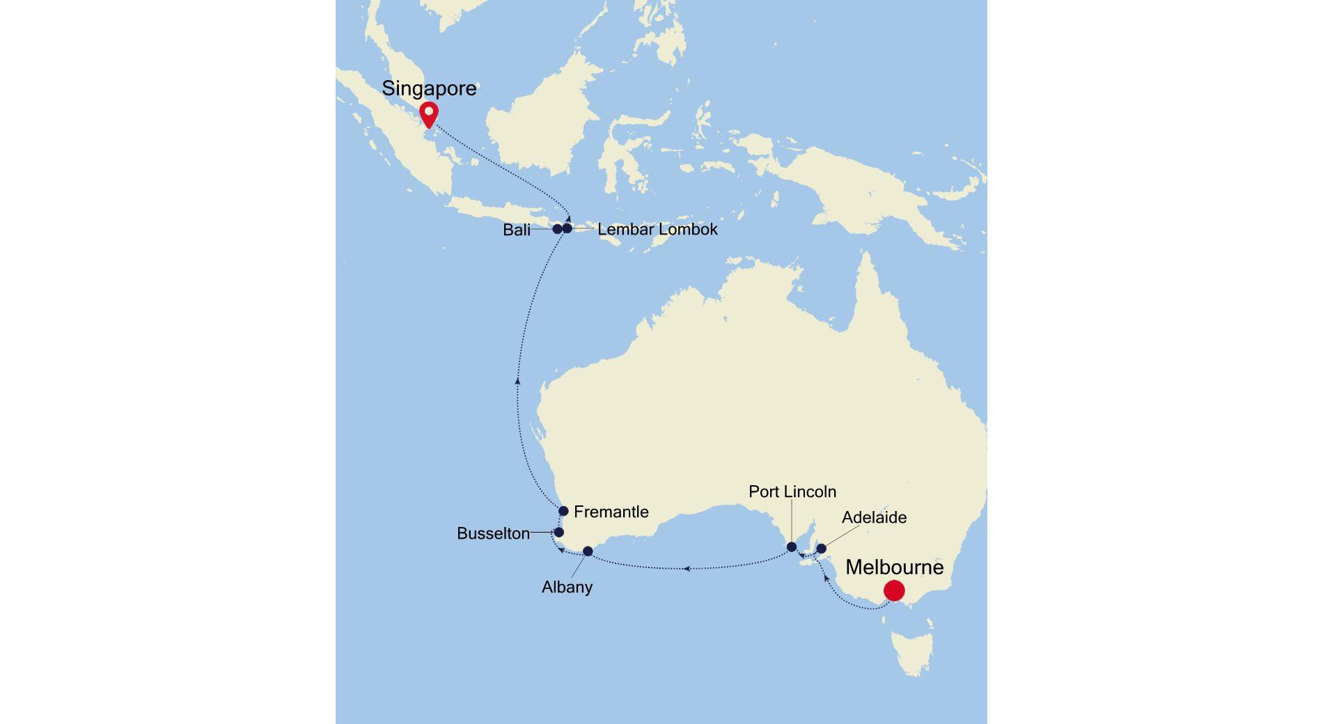 SM220221S16 - Melbourne a Singapore