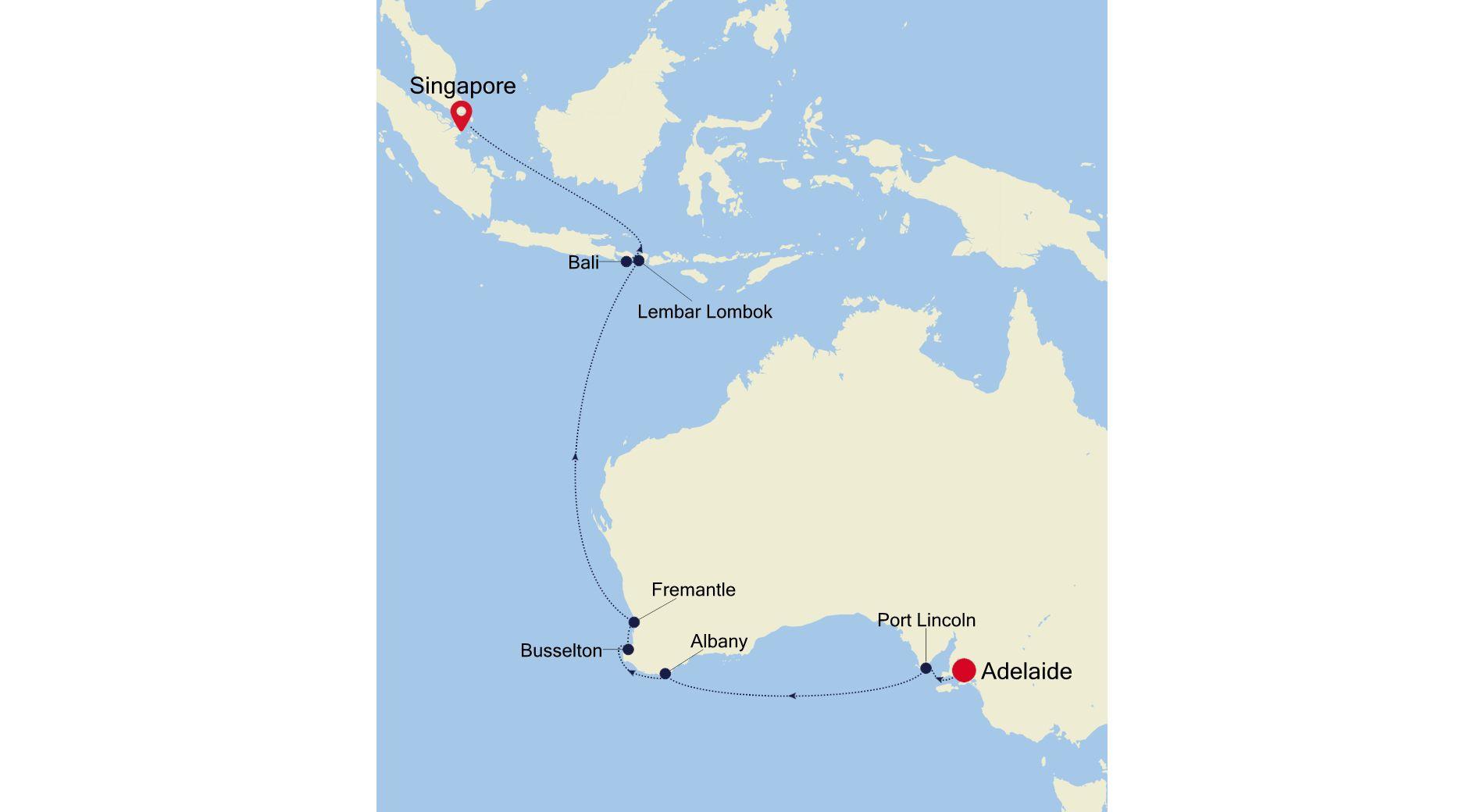 SM220223S14 - Adelaide a Singapore