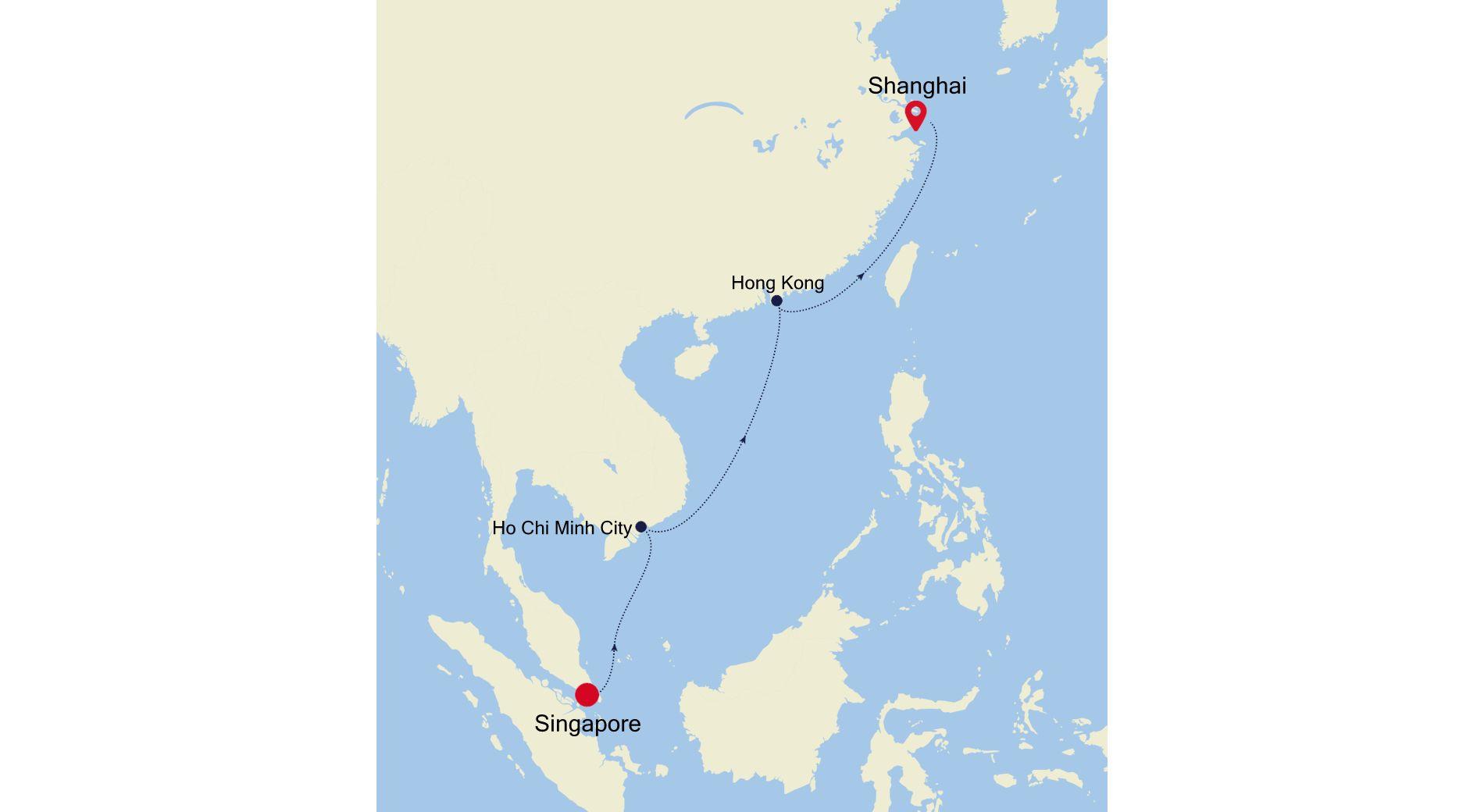 SM220309S12 - Singapore to Shanghai