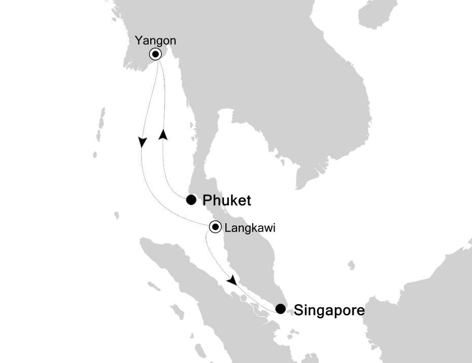 3807A - Phuket nach Singapore