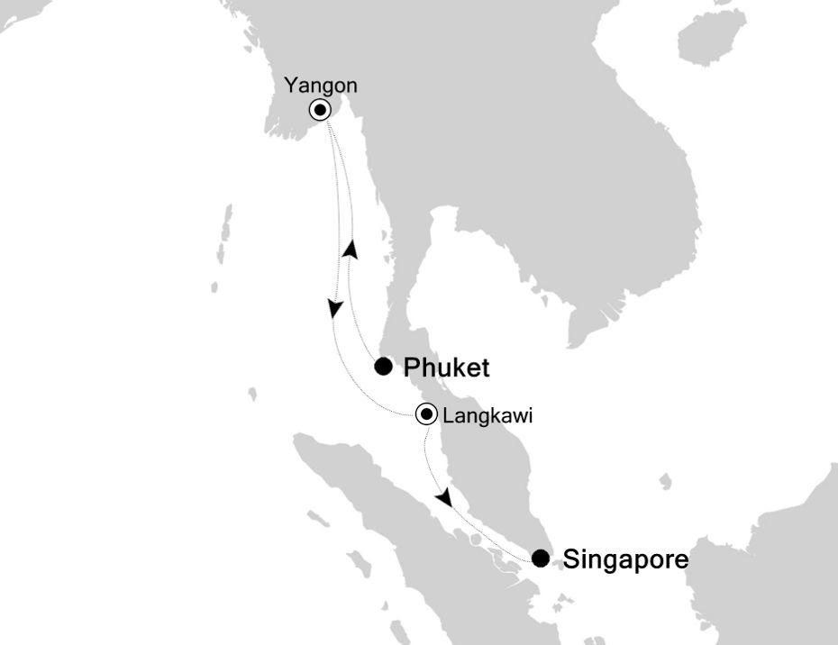 6833X - Phuket to Singapore