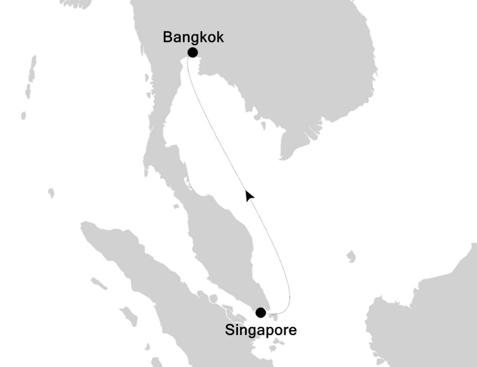 3835D - Singapore nach Bangkok