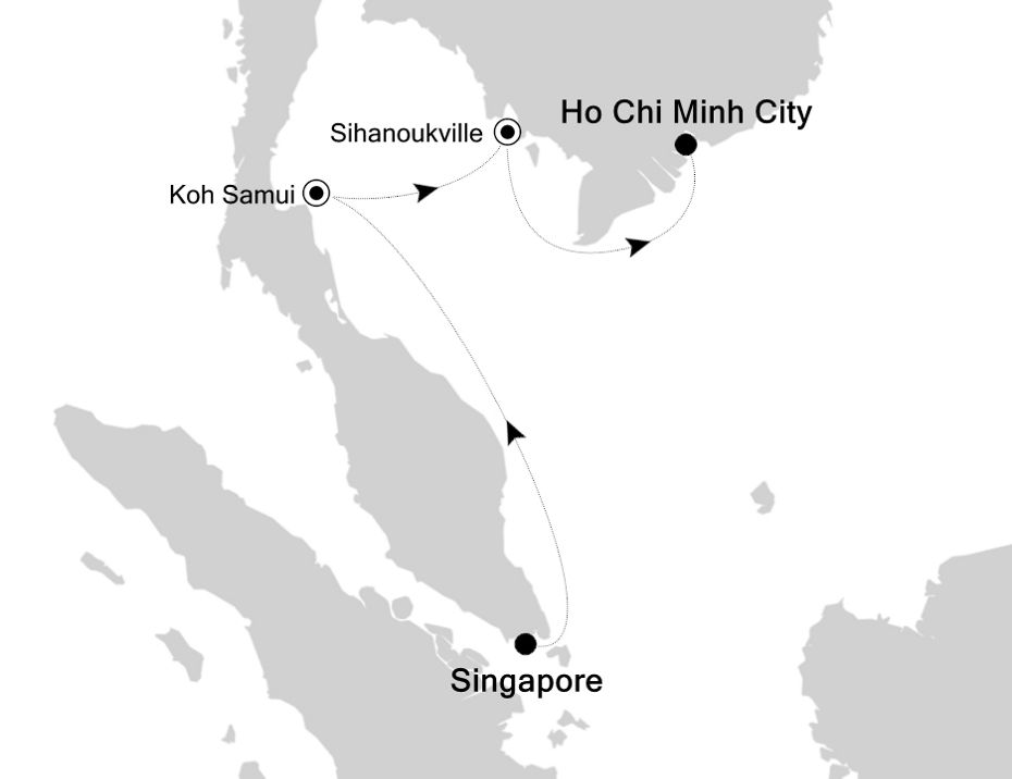 3905B - Singapore to Ho Chi Minh City