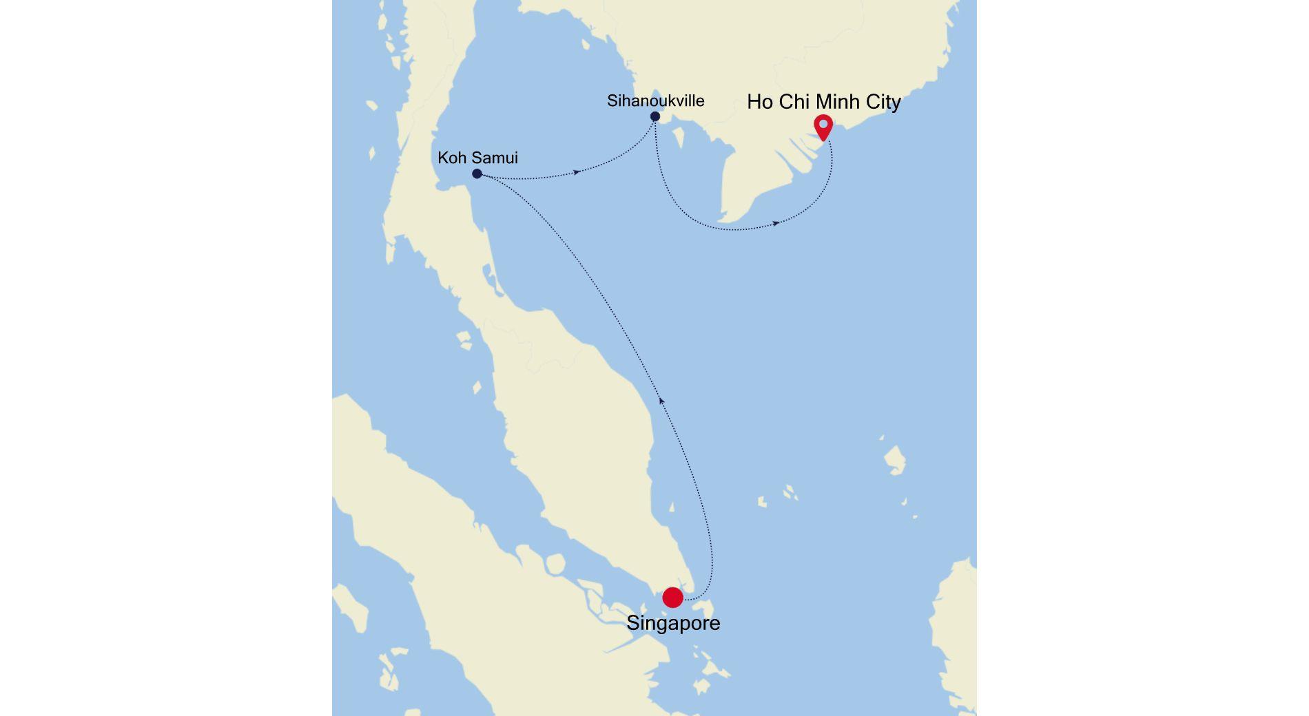 3905B - Singapore nach Ho Chi Minh City