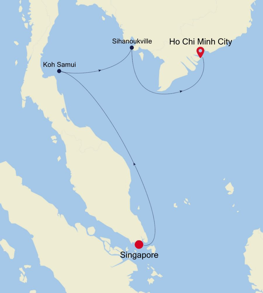 3905B - Singapore nach Ho Chi Minh City