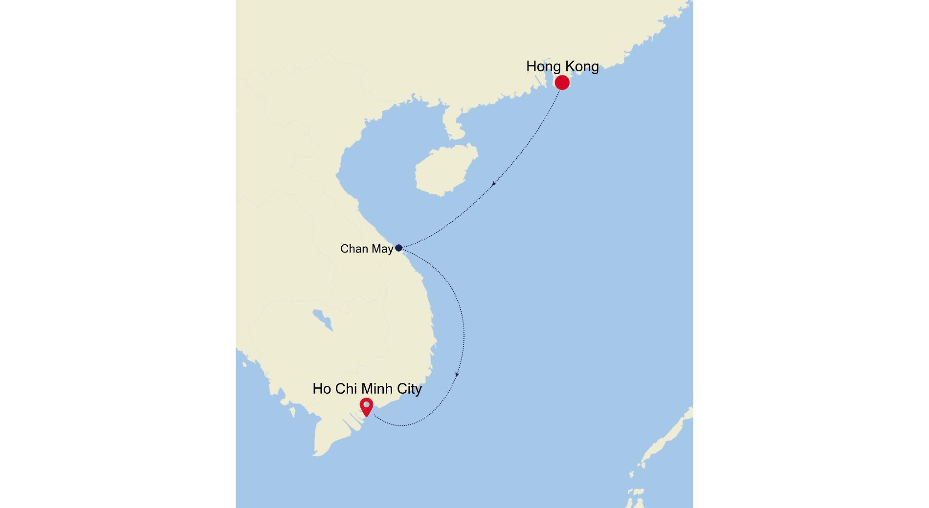 3906B - Hong Kong à Ho Chi Minh City