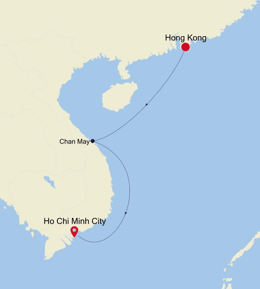 3906B - Hong Kong nach Ho Chi Minh City
