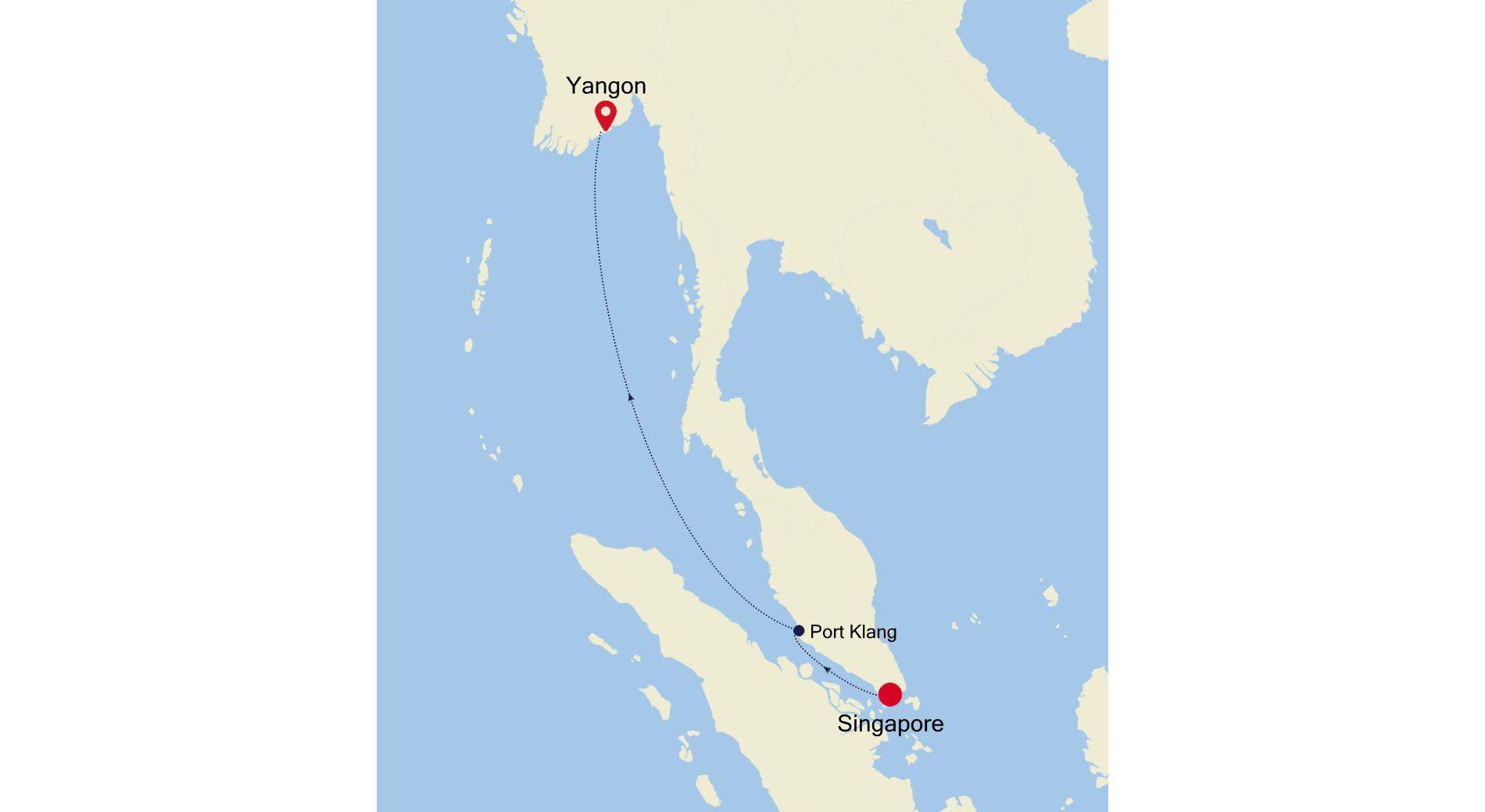 3907P - Singapore à Yangon