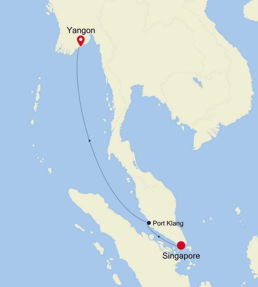 3907P - Singapore to Yangon