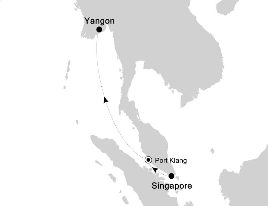 3907P - Singapore nach Yangon