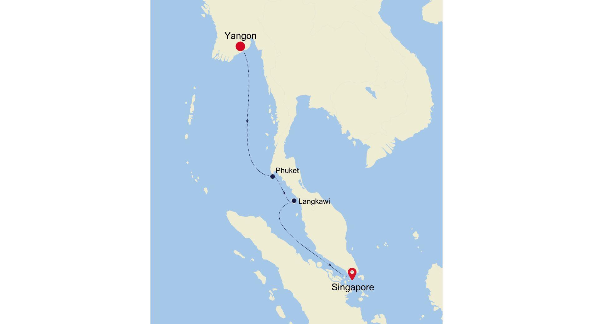 3907Q - Yangon nach Singapore