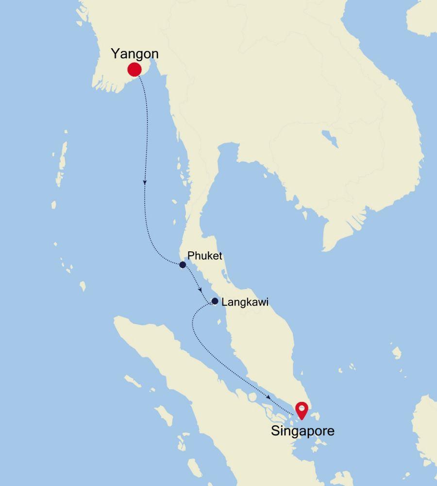 3907Q - Yangon to Singapore