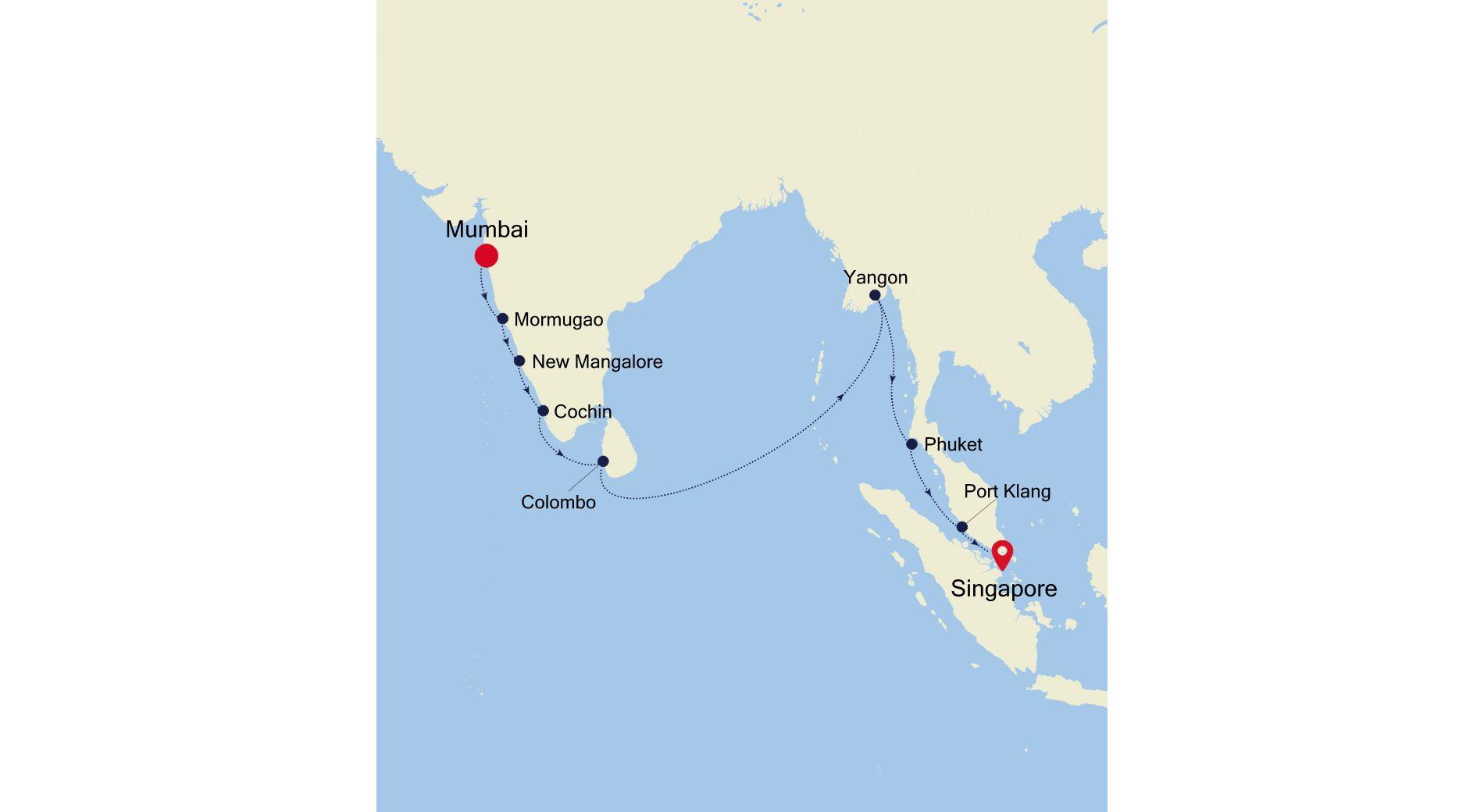 SS211218017 - Mumbai à Singapore