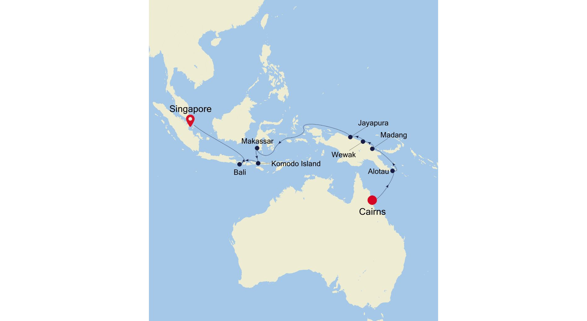 SS220420016 - Cairns to Singapore