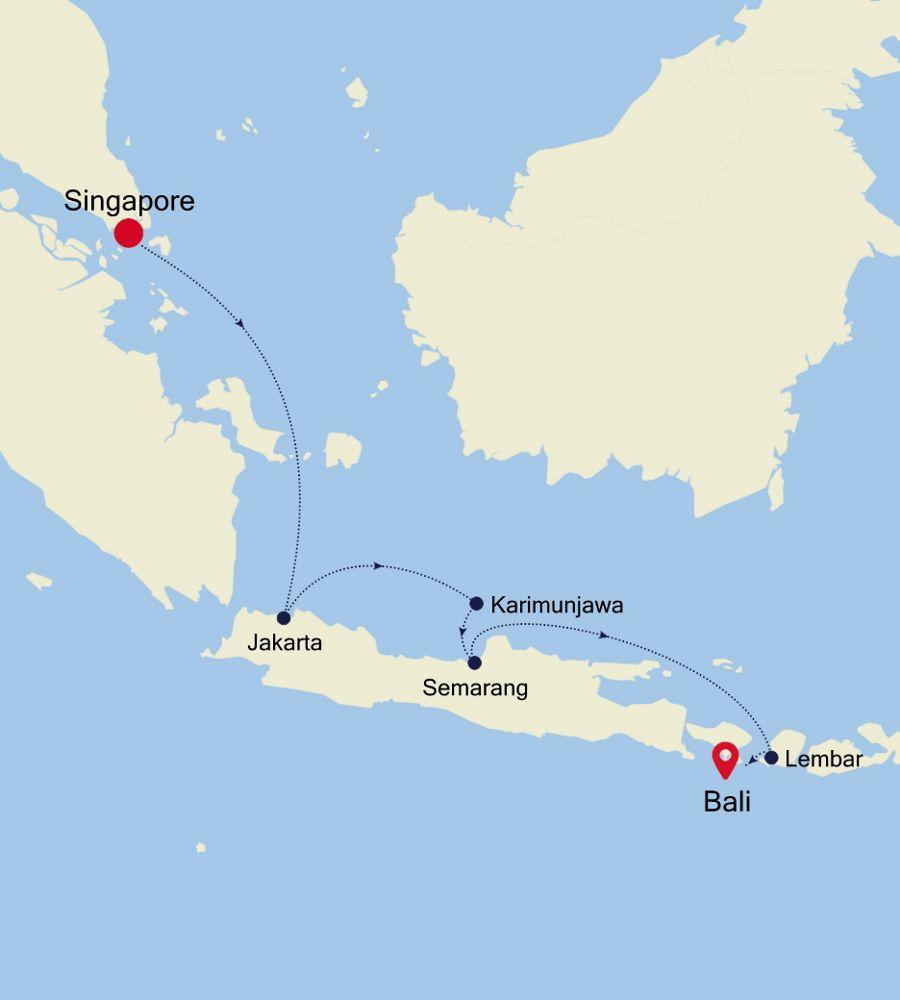 6834 - Singapore à Bali