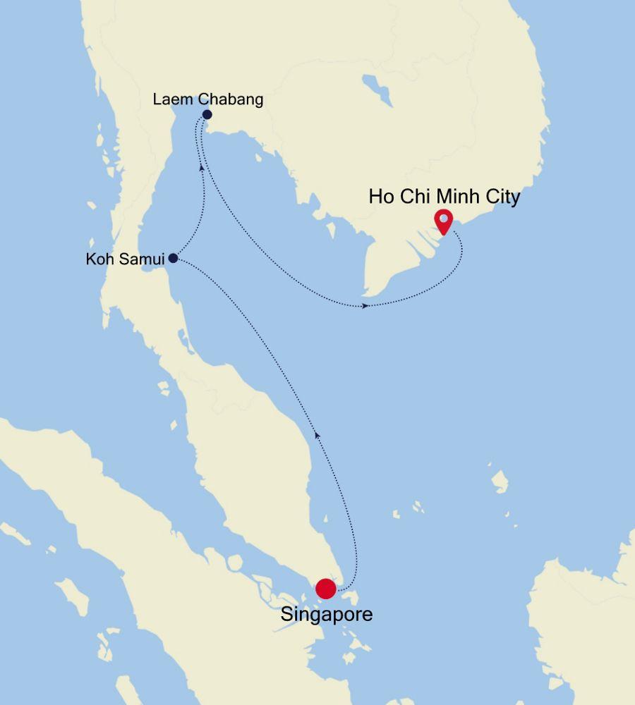 6906A - Singapore à Ho Chi Minh City