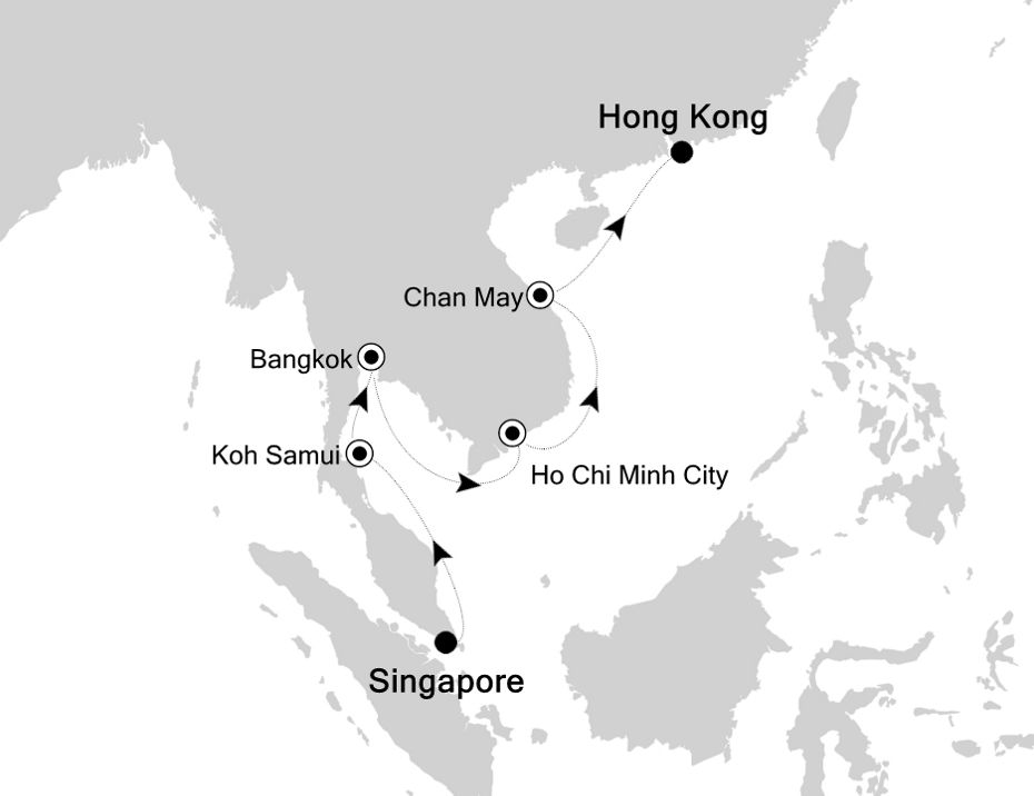 3810 - Singapore to Hong Kong