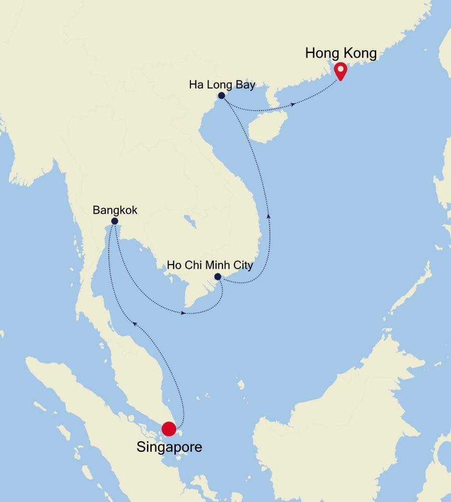 3835 - Singapore a Hong Kong