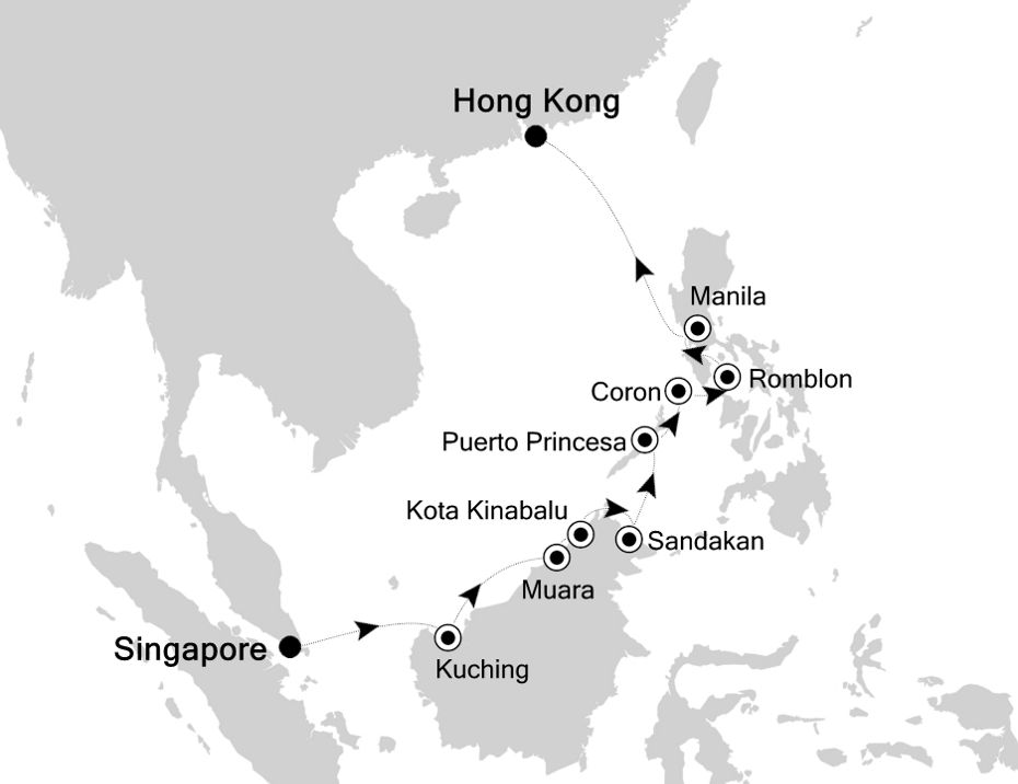3902 - Singapore to Hong Kong