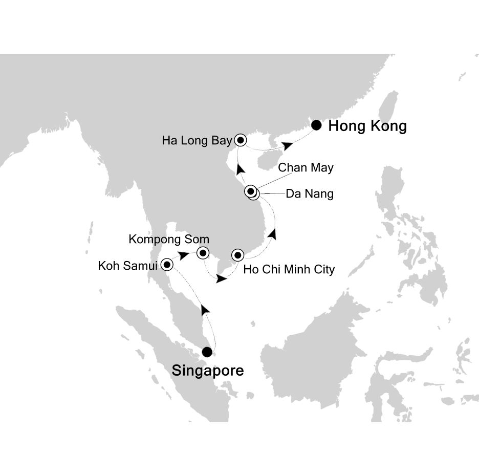 3905 - Singapore to Hong Kong