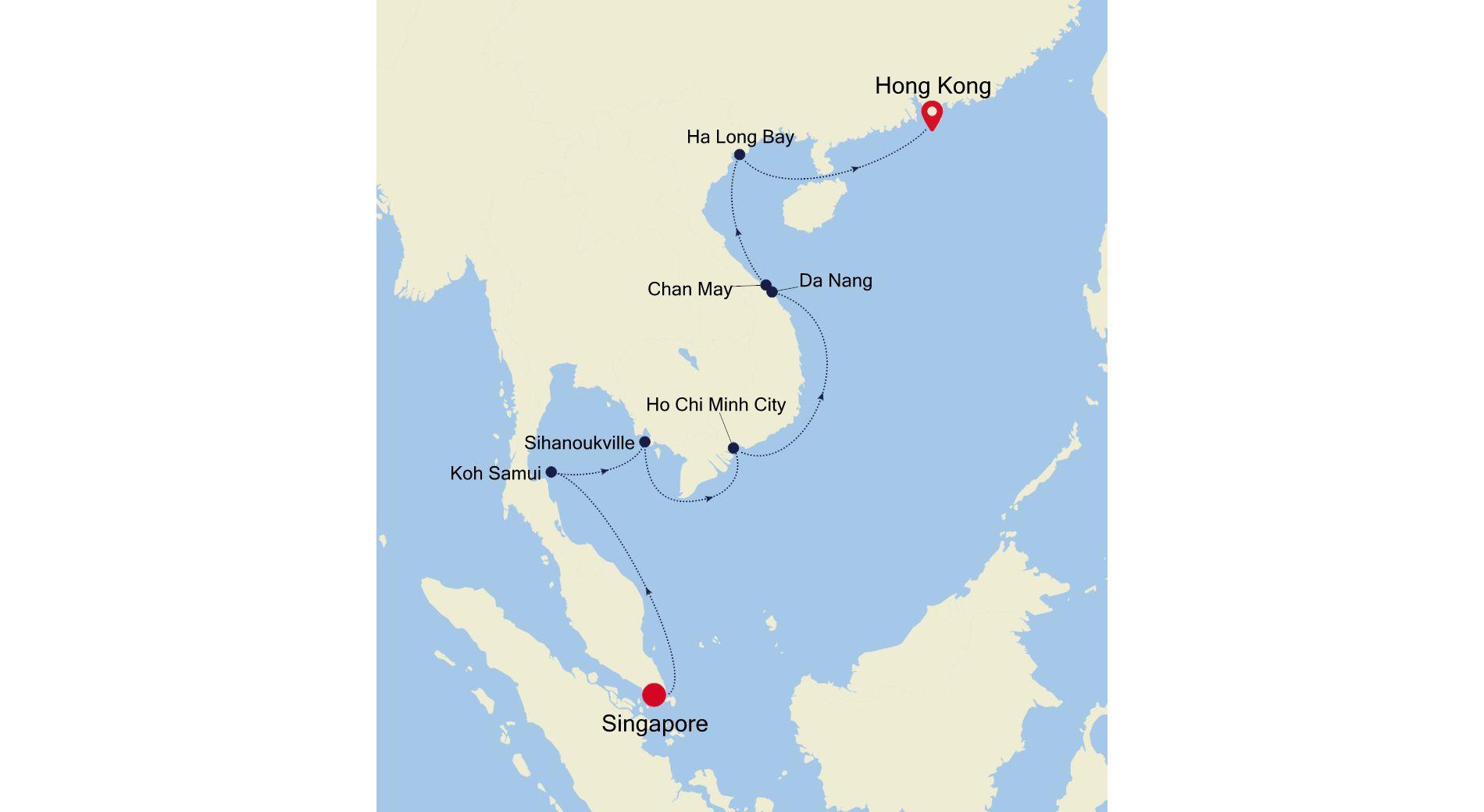 3905 - Singapore a Hong Kong