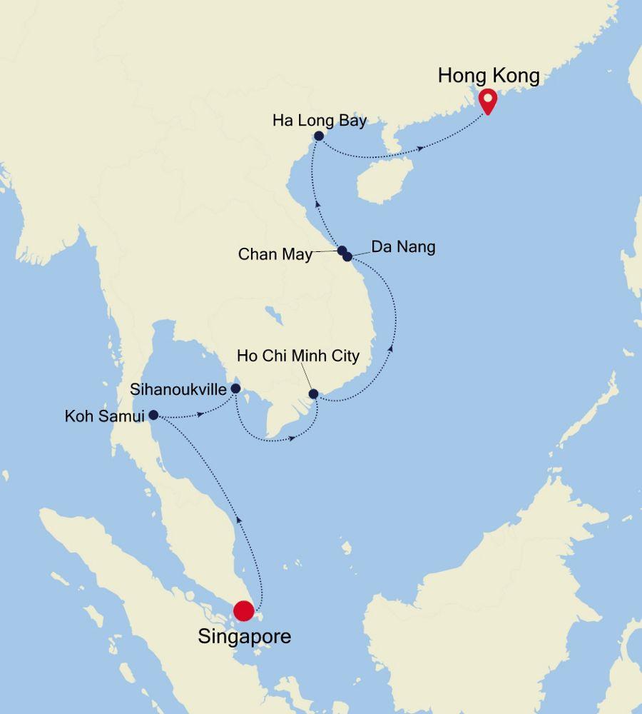 3905 Singapore To Hong Kong