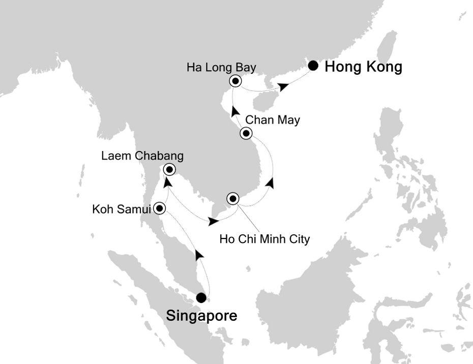 5001 - Singapore nach Hong Kong