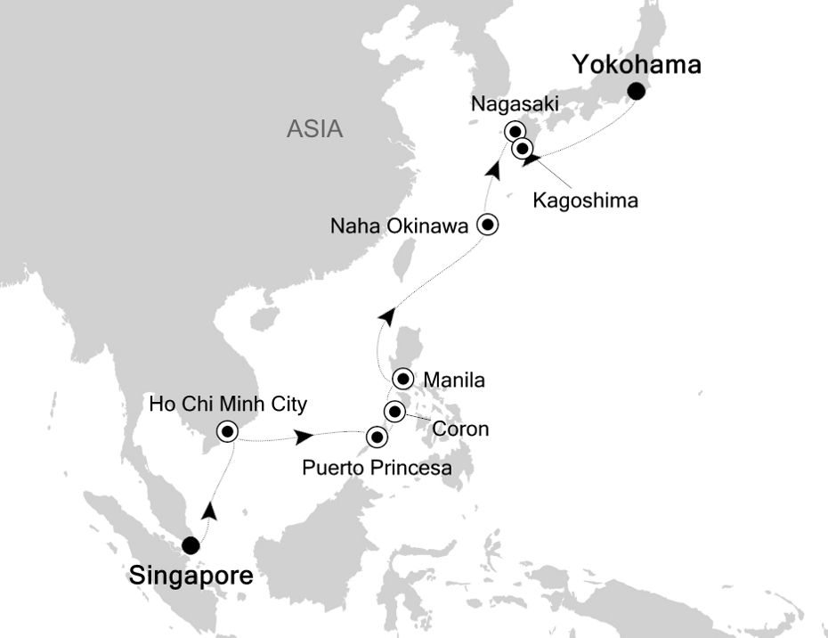 Luxury Cruise from SINGAPORE to YOKOHAMA (Tokyo) 18 Apr 2020 | Silversea