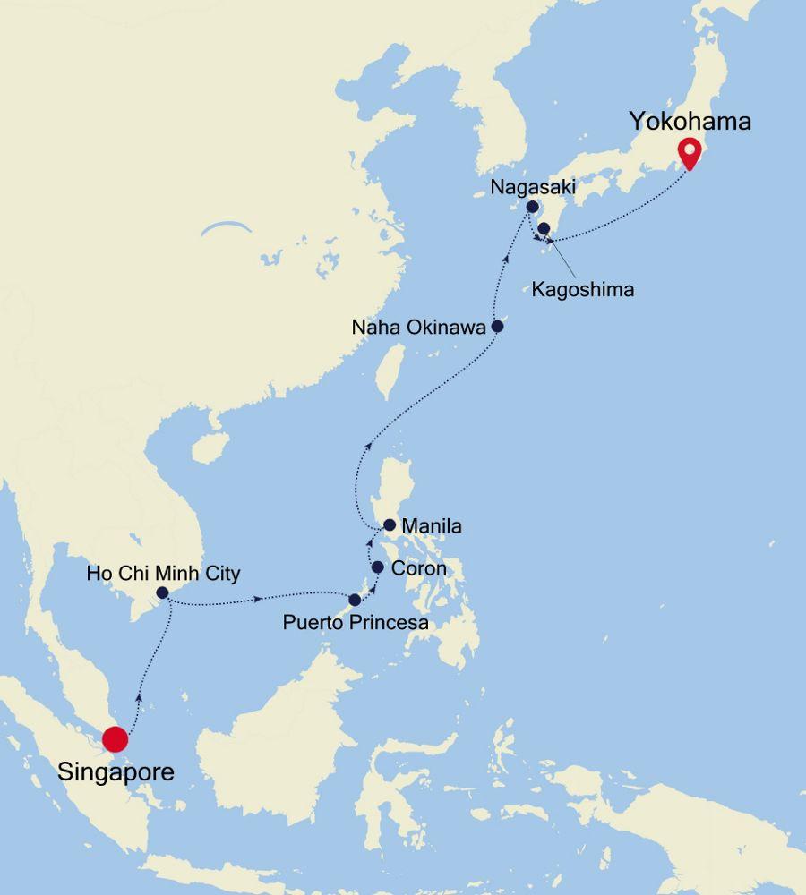 6008 - Singapore to Yokohama