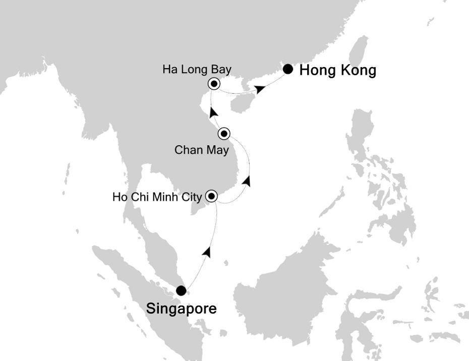 6831 - Singapore à Hong Kong