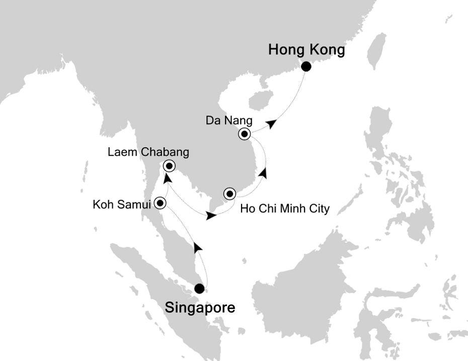6906 - Singapore a Hong Kong