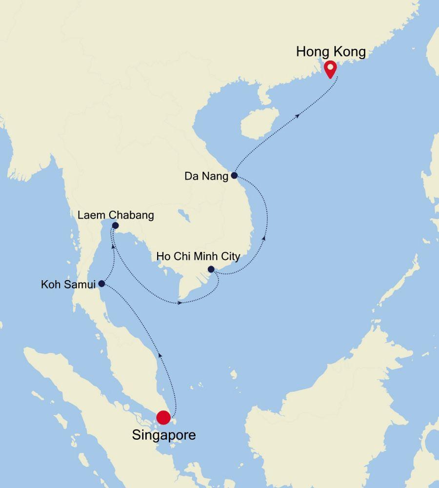 6906 - Singapore à Hong Kong