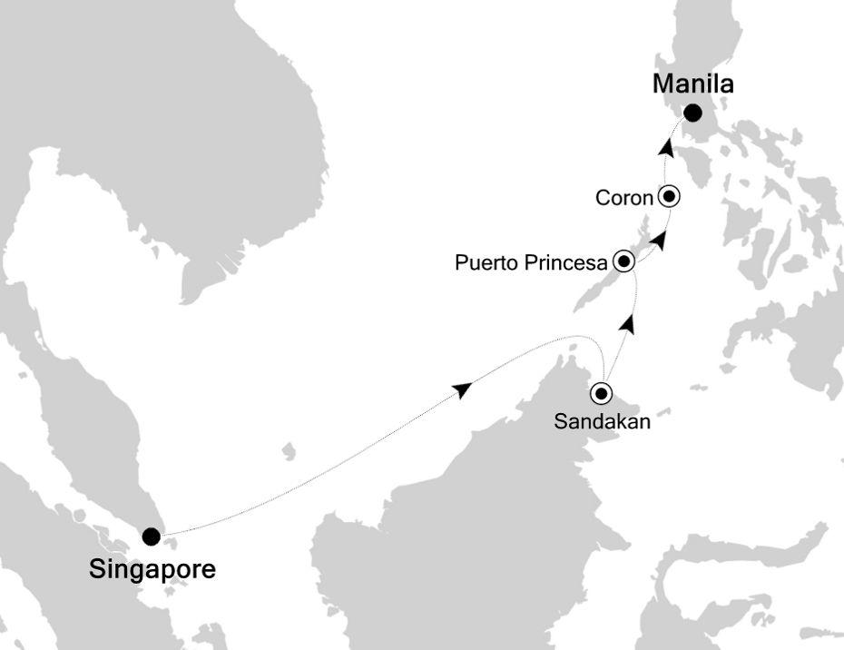 3834B - Singapore à Manila