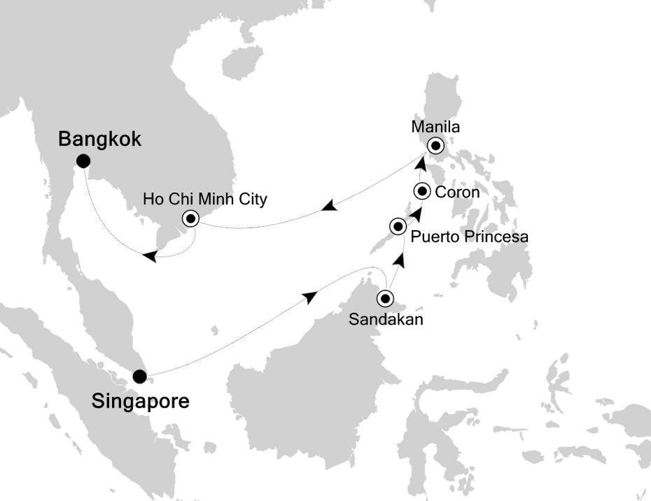 3834 - Singapore a Bangkok