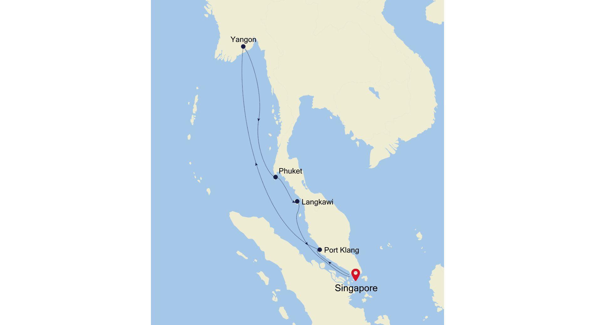 3907 - Singapore nach Singapore
