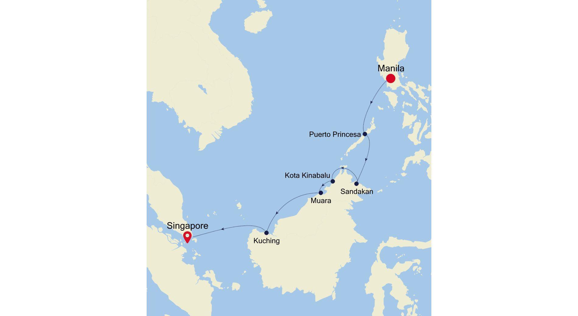5936A - Manila a Singapore