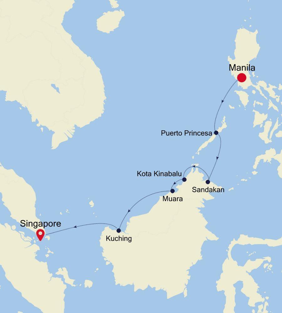 5936A - Manila nach Singapore