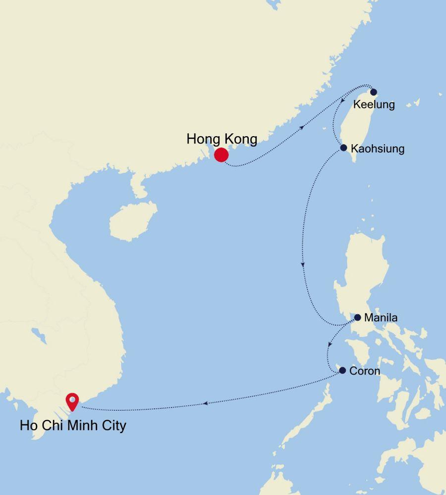 5002A - Hong Kong nach Ho Chi Minh City