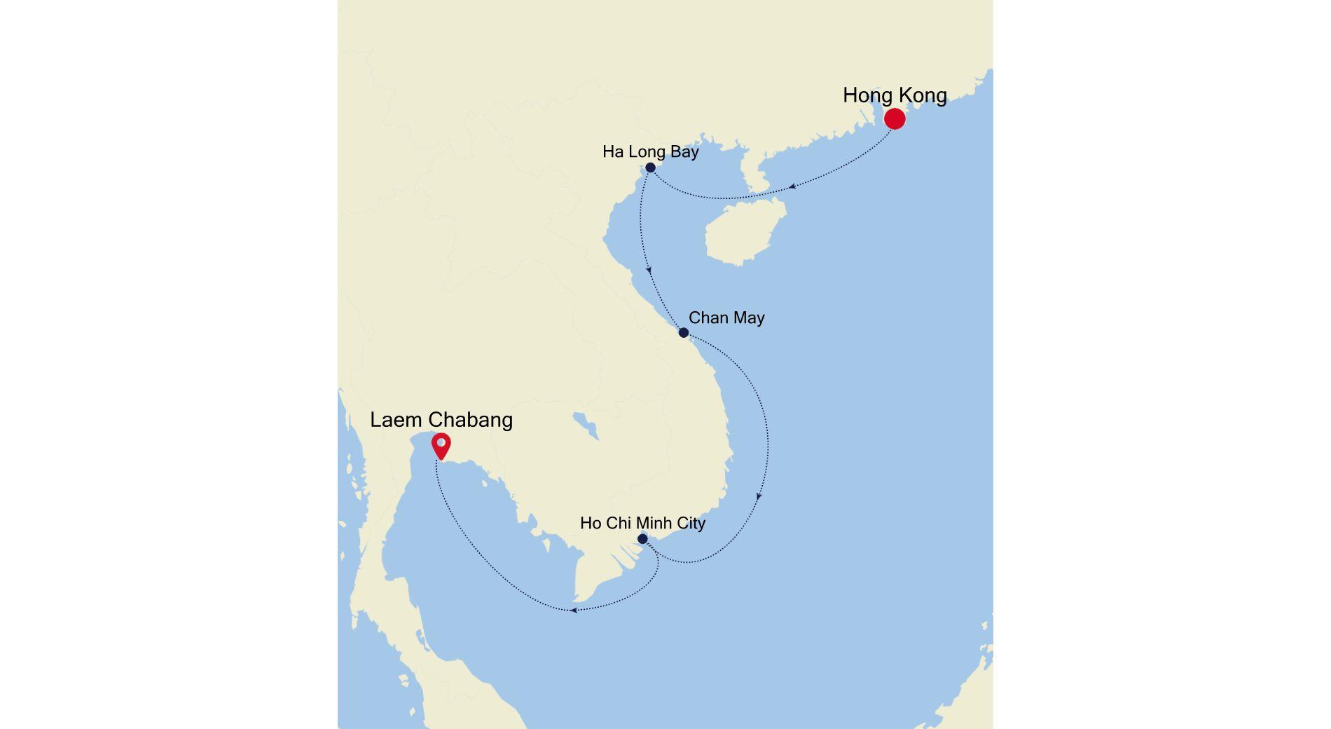 5004A - Hong Kong to Laem Chabang