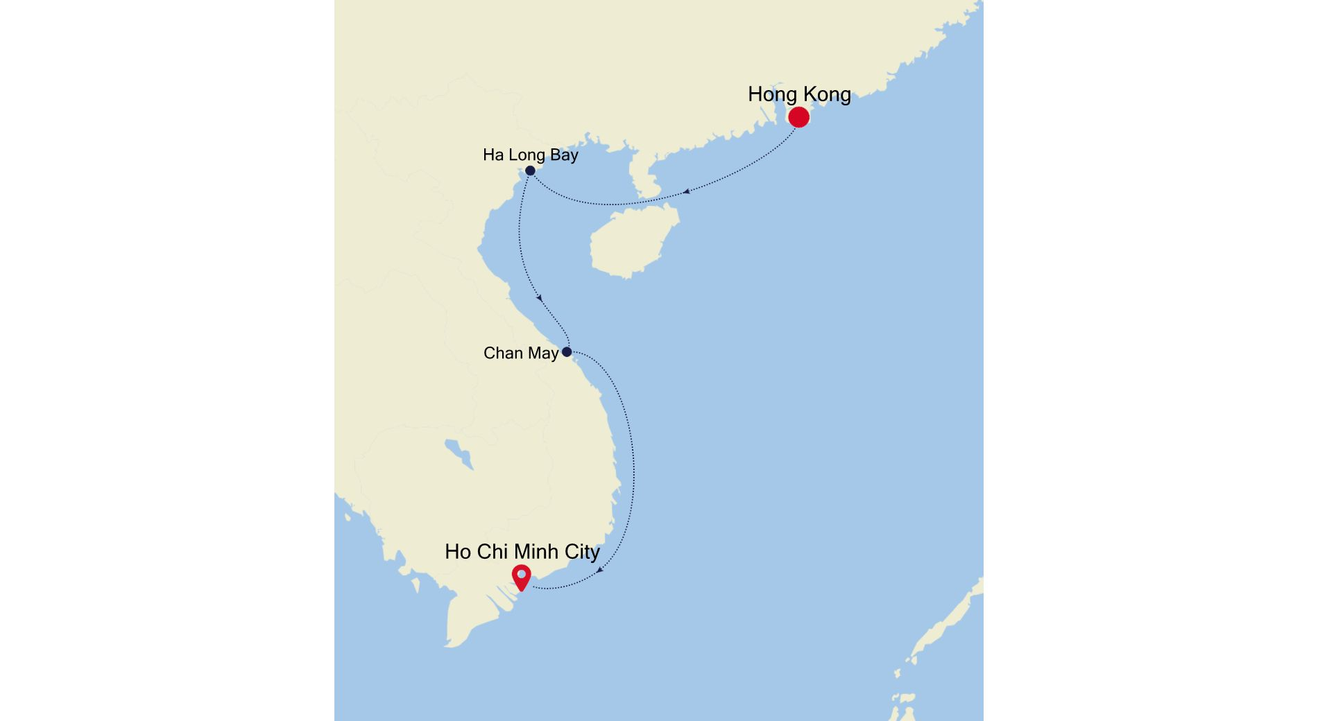 5004E - Hong Kong to Ho Chi Minh City