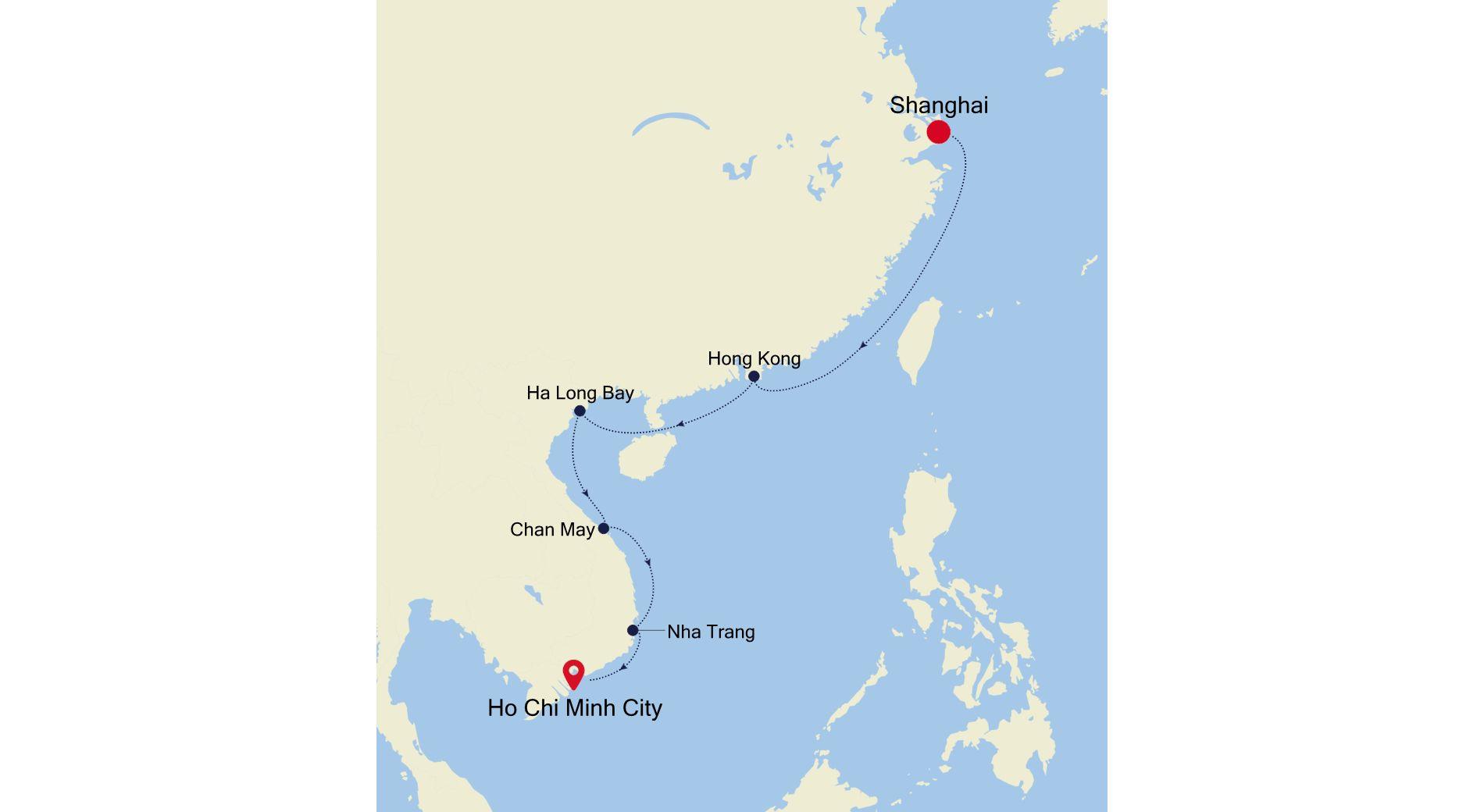 SL210223S13 - Shanghai nach Ho Chi Minh City