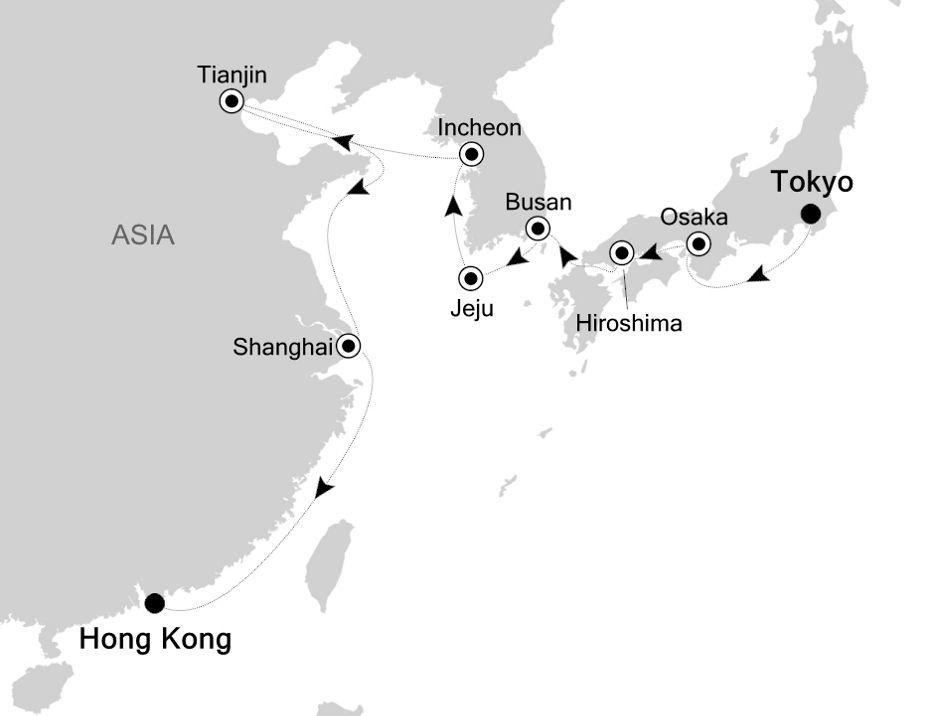 3830 - Tokyo to Hong Kong