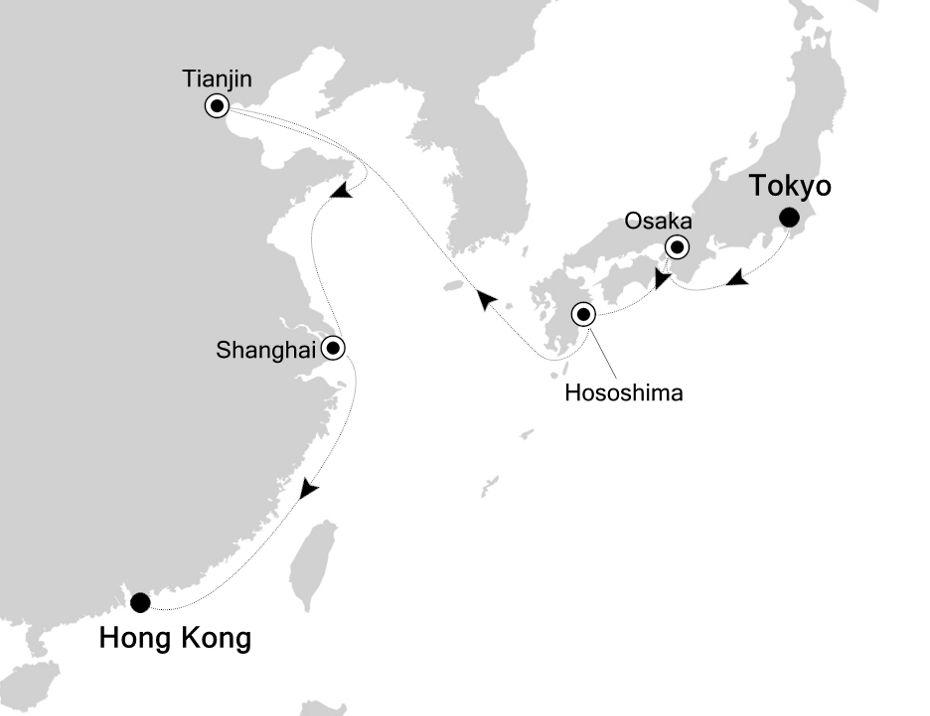 6928 - Tokyo nach Hong Kong