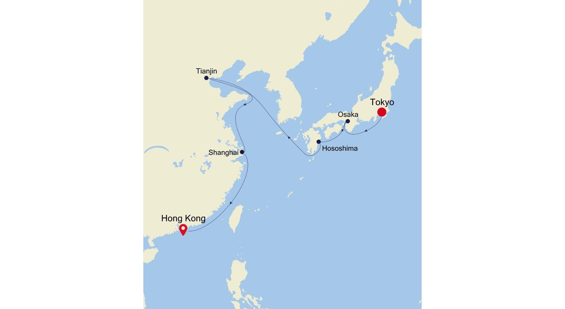 6928 - Tokyo to Hong Kong